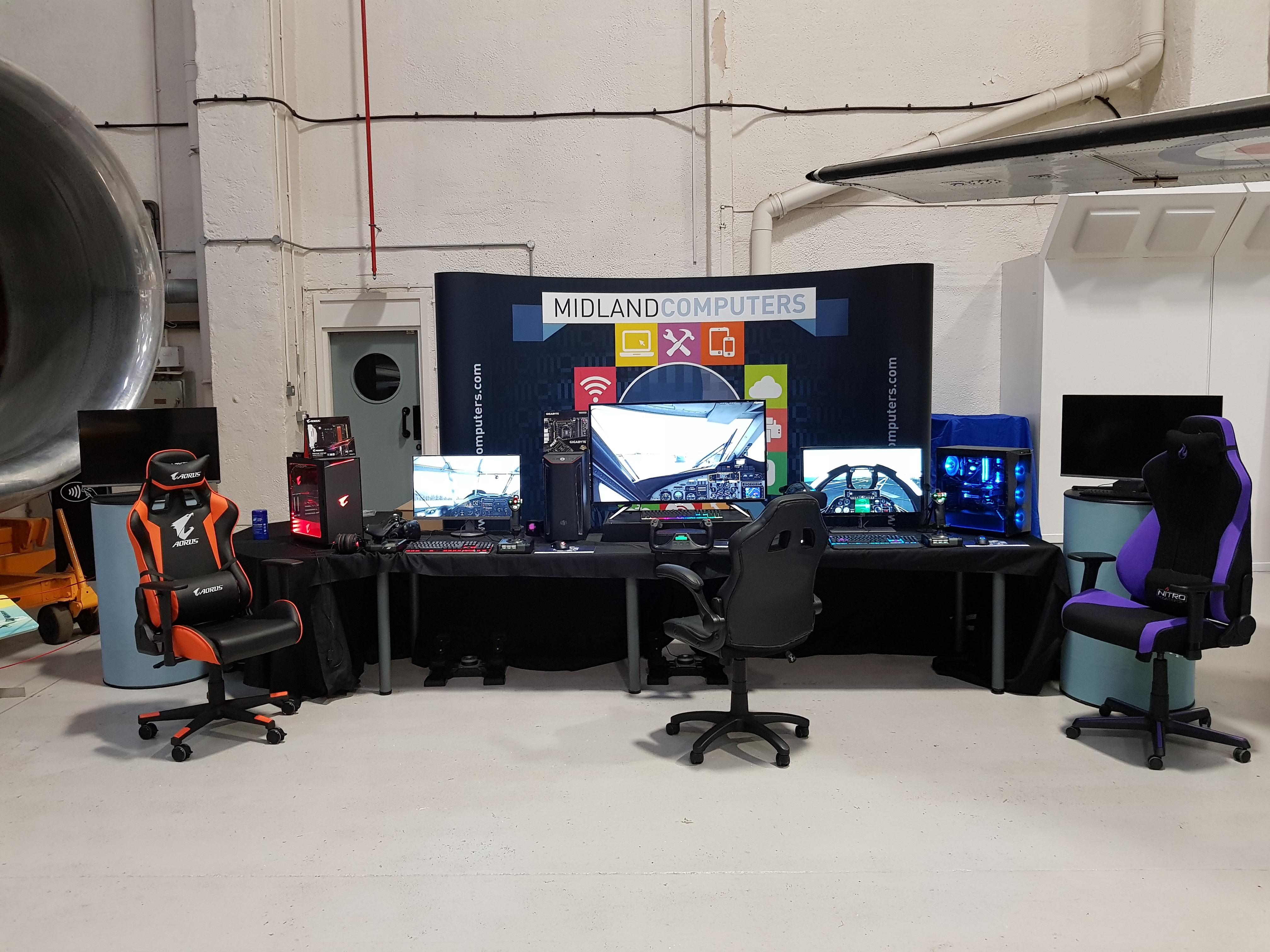 Midland Computers Showroom   Flight Simulation